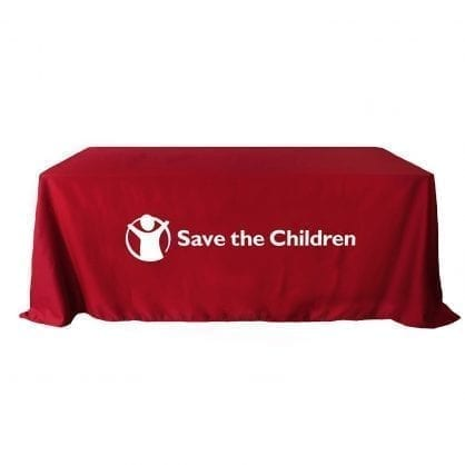 rush imprinted table covers